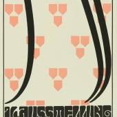 Alfred Roller (1864–1935) Secession – 16. Ausstellung der Vereinigung Bildender Künstler Österreichs, 1903 Lithografie, 94,8 x 31,1 cm Museum für Kunst und Gewerbe Hamburg Public Domain