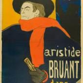 Henri de Toulouse-Lautrec (1864–1901) Ambassadeurs – Aristide Bruant dans son cabaret, 1892 Farblithografie, 138 x 96,5 cm Museum für Kunst und Gewerbe Hamburg Public Domain
