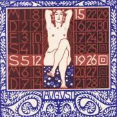 Carl Otto Czeschka (1878 – 1960) Titel des Programmheftes für das Kabarett Fledermaus, Wien 1907 Farblithografie, 24,2 x 23,5 cm Museum für Kunst und Gewerbe Hamburg