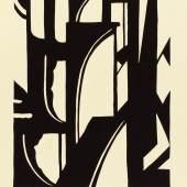 Georg Hempel, Brückenbögen, um 1930, Scherenschnitt, 21,2 x 17,4 cm, © Museum für Kunst und Gewerbe Hamburg