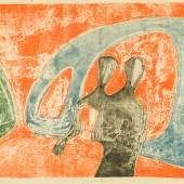 Rolf Nesch, Hafenbrücke, 1932, Metalldruck, 45 x 59,7 cm, © VG Bild-Kunst, Bonn 2015