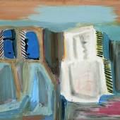 Karl Ballmer (1891-1958), Komposition mit drei Gestalten (Figuren), um 1935, Temperafarben auf Karton, 50,2 x 65,5 cm, Dauerleihgabe aus der Sammlung Hamburger Sparkasse, Foto: Fotostudio Grünke, Hamburg