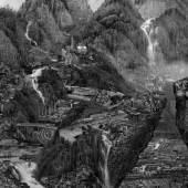 Yang Yongliang (*1980), Rising Mist (Aufsteigender Nebel), 2014, 9:44 min / HD video / Videostill (Detail), Museum für Kunst und Gewerbe Hamburg, Eigentum der Stiftung Hamburger Kunstsammlungen, © Yang Yongliang