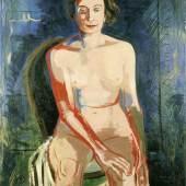 Karl Kluth (1898-1972) Sitzender weiblicher Akt (Hannah Kluth) | Seated female nude (Hannah Kluth), 1930 Öl auf Leinwand | oil on canvas, 100 x 80 cm © Vera Kluth