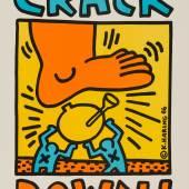 Keith Haring (1958-1990), Crack Down!, 1986, Offsetlithografie, 56 x 43,4 cm, © Keith Haring Foundation