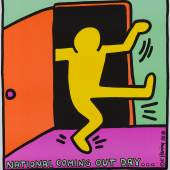 """Keith Haring, National Coming Out Day, entstanden für die """"National Gay Rights Advocates"""",  New York, USA, 1988, Offsetlithografie, 66 x 58,4 cm, © Keith Haring Foundation"""