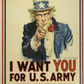 James Montgomery, I Want You for U.S. Army, 1917, Plakat für die amerikanische Rekrutierung, Museum für Kunst und Gewerbe Hamburg