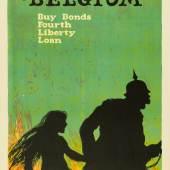 Ellsworth Young, Remember Belgium, Buy Bonds Fourth Liberty Loan, 1917/18, Plakat für die amerikanische Kriegsanleihe, Museum für Kunst und Gewerbe Hamburg