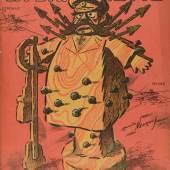 """Le plan d'Hindenburg, Titelblatt der französischen Satirezeitschrift """"La Baionnette"""", Nr. 101 vom 7. Juni 1917."""
