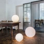 Hiroyuki Murase Bodenleuchte SHIZUKU Stoff: 100 % Polyester, verschiedene Durchmesser: 30 - 50 cm Foto: Hiroyuki Murase