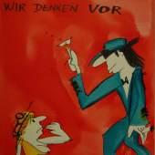 Udo Lindenberg, Don't panic, 2006, Mischtechnik auf Leinwand, Foto: Michaela Hille