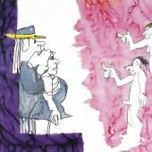 Udo Lindenberg, Du sollst nicht Ehebrechen, 2001, Mischtechnik auf Papier, Foto: Michaela Hille
