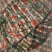 Mona Ardeleanu, Pliss 2019 / IV 2019, Öl auf Leinwand, 70 x 50 cm