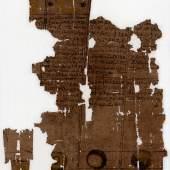 Papyrus über Mond- und Sonnenfinsternisse und Mond-Omen Demotisch, Papyrus Arsinoe?,  spätes 1.–frühes 3. Jh. n.Chr.