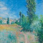 Claude Monet, Landschaft auf der Insel Saint-Martin, 1881, Öl auf Leinwand, Privatsammlung.