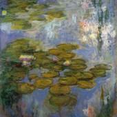 Claude Monet, Nymphéas, 1916-1919, Öl auf Leinwand, 200.00 x 180.00 cm, Fondation Beyeler, Riehen/Basel Foto: Robert Bayer, Basel