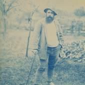 Theodore Robinson: Portrait of Monet, around 1888–90  Cyanotypie, 24 x 16,8 cm Terra Foundation for American Art, Chicago, Gift of Mr. Ira Spanierman, 1985 Foto: © Terra Foundation for American Art, Chicago / Art Ressource, NY