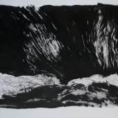 Peter Lang, Kastvindur, 2013, Tusche auf Bütten, 80x120 cm. Foto und Copyright Künstler
