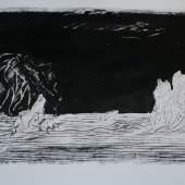 PPeter Lang, Spytist Eimyrja, 2013, Tusche auf Bütten, 80x120 cm. Foto und Copyright Künstl