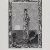 Max Klinger, Radierungen zu Apuleius´Märchen Amor und Psyche, Blatt: Psyche auf dem Felsen, 1880