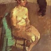 Willem den Ouden, Weiblicher Akt im Atelier, 1955