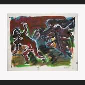Otto Mueh, Mischtechnik auf Papier, 1984 52 x 72 cm