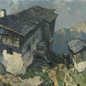 MULLEY, Oskar 1891 - 1949 Bauernhof im Hochgebirge € 10.000 - 15.000