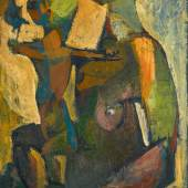 Munira Al-Kazi, Mother and child, oil on canvas circa 1960 (est. £12,000-18,000)