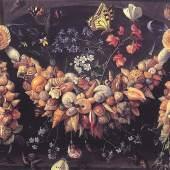 Jan van Kessell Antwerpen, 1626 - 1678 Stilleben mit Muscheln und Blumen Öl auf Kupfer, Privatsammlung