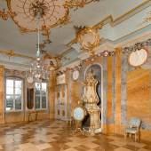 Restauriert: Muschelsaal im Schloss Rheinsberg. Foto: SPSG/Leo Seidel