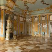 Blick in den restaurierten Muschelsaal im Schloss Rheinsberg. Foto: SPSG/Leo Seidel