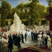 Anton von Werner, Enthüllung des Richard-Wagner-Denkmals im Tiergarten, 1908,  © Repro: Kai-Annett Becker
