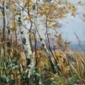 Karl Hagemeister,  Birkenwäldchen im Herbst, 1893, © Repro: Kai-Annett Becke