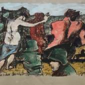 Copyright & courtesy: Der Küntler /The artist and Kunsthandlung Osper, Köln Markus Lüpertz o.T. / untitled, 2015 Mischtechnik auf Papier / Mixed media on paper, 61 x 82 cm