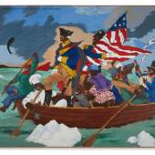 N10682, Robert Colescott, George Washington Carver Crossing the Delaware - Page from an American History Textbook