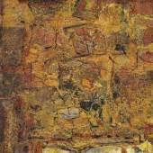"""Karl Fred Dahmen (1917 - 1981)  """"Collage """", 1961 Mischtechnik auf Hartfaserplatte Signiert und datiert 52 x 42 cm"""