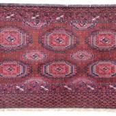 Saryk Tschowal (= Nr. 33, in: Loges, Turkmenische Teppiche (1978), Turkmenistan, zweite Hälfte 19. Jahrhundert, und andere Turkmenenteppiche aus der Sammlung Dr. Werner Loges.