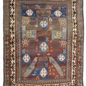 Swastika-Kasak (= Nr. 2, in: Doris Eder, Kaukasische Teppiche, 1979) aus der Sammlung Gert K. Nagel  Kaukasus, 19. Jahrhundert 227 x 186 cm
