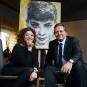 Nahid Shahalimi, artist, and Sean Hepburn-Ferrer, son Audrey Hepburn (c)  Nahid Shahalimi