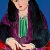 Henri Matisse, Portrait au manteau bleu, 1935 Nahmad Collection, Switzerland, © 2010 ProLitteris, Zürich     Henri Matisse, Portrait au manteau bleu, 1935 Nahmad Collection, Switzerland, © 2010 ProLitteris, Zürich