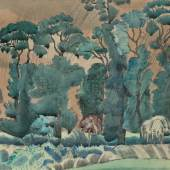 Paul Nash (1869-1946) Spring Landscape ink watercolour and gouache on paper Circa 1914 © Jerwood Collection