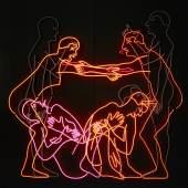 Bruce Nauman, Sex and Death by Murder and Suicide, 1985  Neonröhren auf Aluminium montiert, 198 × 199 × 32 cm, Emanuel Hoffmann-Stiftung, Depositum in der Öffentlichen Kunstsammlung Basel, © Bruce Nauman / 2017, ProLitteris, Zurich, Foto: Tom Bisig, Basel