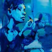 "Artist: Vilmantas Work: ""Lost in the moonlight"", 125 x 100 cm Courtesy by galleri NB, Viborg / Denmark"