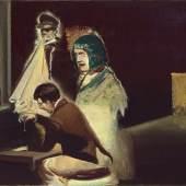 Neo Rauch (1960) Pendel   2009   Öl auf Leinwand   35 x 50 cm Taxe: 80.000 – 120.000 Euro