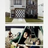 Dan Graham, House with Greek Columns... / Family at Leisure, 1978; 1969 2 colour photographs, 88 x 63.6 cm Kunsthaus Zürich, 1996, © Dan Graham