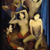 Ernest Neuschul, Takka-Takka tanzt, 1926 Öl auf Leinwand, 141 x 103 cm Privatsammlung, © Nachlass Ernest Neuschul
