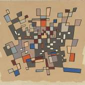 Jean Leppien  New York | 2/48 XII | 1948 | Öl auf Leinwand | 77,5 x 85,5 cm