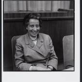 Barbara Niggl Radloff, Hannah Arendt während des 1. Münchner Kulturkritiker-Kongress, 1962
