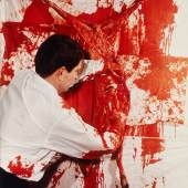 """HERMANN NITSCH / LUDWIG HOFFENREICH 4th Action Vienna, November 1963 Chromogenic print, printed 1980s 60,5 x 50 cm Verso: signed and numbered by the artist in ink, edition no. """"18/45"""" © Hermann Nitsch / WestLicht, Vienna"""
