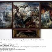 Otto Dix, Der Krieg (Triptychon), Ausschnitt, Mitteltafel, 1929/32, Mischtechnik auf Holz, Galerie Neue Meister, copyright: VG-Bildkunst Bonn, 2014